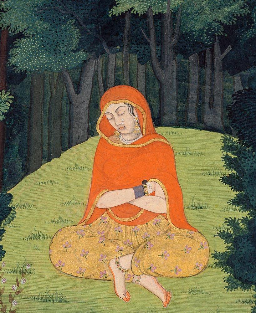 Radha Meditating